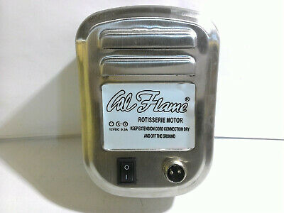 Cal Flame 089245002277 12 Volt (DS&CC) Rotisserie Grill Motor, Stainless Steel