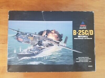 New Open Box Accurate Miniatures B-25C/D MITCHELL 1/48 #3431 Airplane