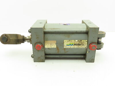 Miller A84b2b Pneumatic Dbl Acting Air Cylinder 6 Bore 6 Stroke 250psi Clevis