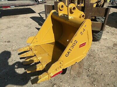 New Caterpillar 302 Mini Excavator 24 Digging Bucket Emaq Teran 24 Inch Cat