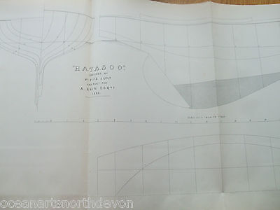 "ANTIQUE PRINT C1895 DIXON KEMP YACHT & BOAT SAILING ""HATASOO"" BOAT BY W FIFE"