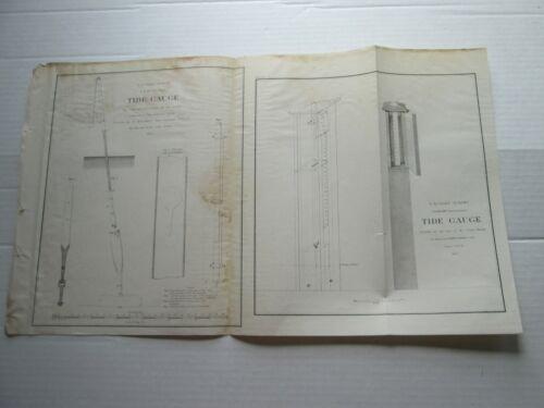 ONE (1) 1857 COAST SURVEY, TWO DIFFERENT TIDE GAUGES