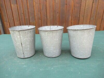 6 Vintage Sap Bucket COVERS Old Style LIDS Maple Syrup READY TO USE!