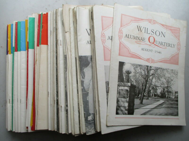 HUGE LOT of SIXTY Wilson College, Chambersburg PA Alumnae Quarterlies 1946-1963