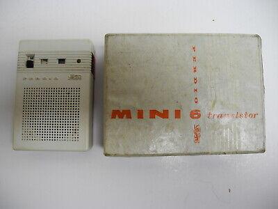 Vintage 1960's Perdio Mini-Six Transistor Radio with Box Made in England Works