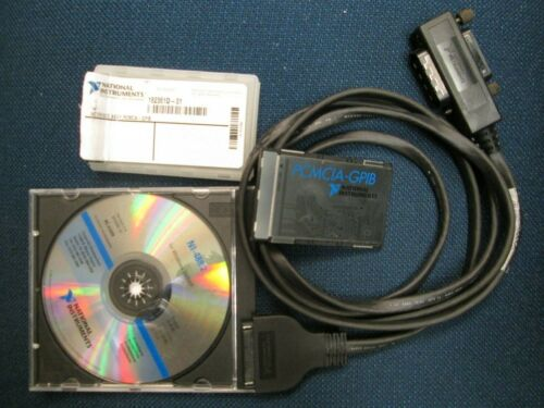 National Instruments PCMCIA-GPIB Card with Cable & Software TESTED! 182361D-01