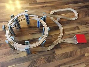 Wooden Train Set (Compatible with Thomas and Brio)