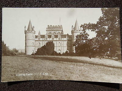 BLACK & WHITE POSTCARD INVERARAY CASTLE PRE WAR BY CUTHBERT SPENCER