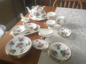 Grandmothers Rose Bone China Tea set