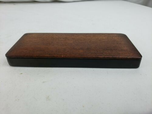 Rare antique chinese ink stone with wood cover, ca. 19th C.