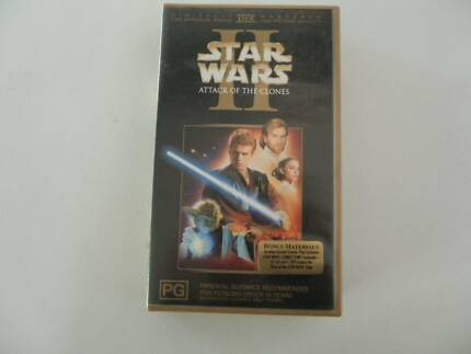 Star Wars Attack Of The Clones video tape