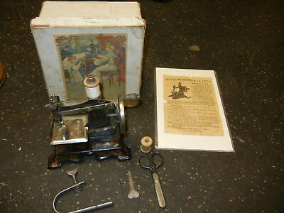Beautiful Antique German Casige Sewing Machine with Original Box