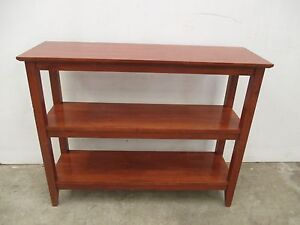 C33029 Solid Timber 3 Tier Bookshelf Hall Table Console Unley Unley Area Preview