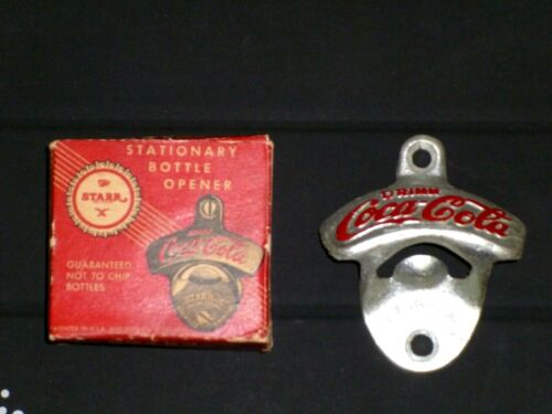 STARR X Coca-Cola Bottle Opener - NEW / VINTAGE with Box, Brown Mfg - NEW