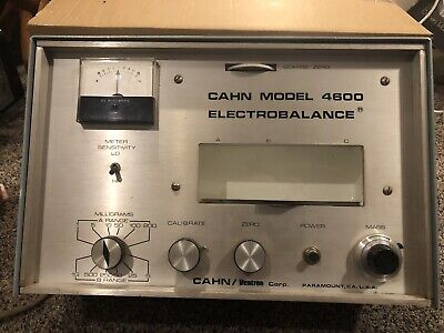 Ventron Cahn 4600 Electrobalance Electronic Lab Balance - For Parts Or Repair