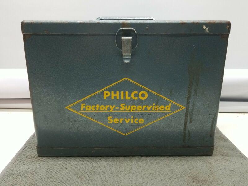 Vintage Philco Factory Supervised Service Metal Box