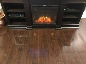 Tv  stand with electric fireplacs