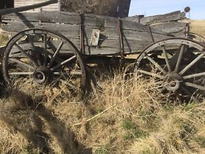 Antique Farming Wooden Wagons
