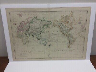 Ireland; 1850 Hall Map; Stunning Antique Cartography