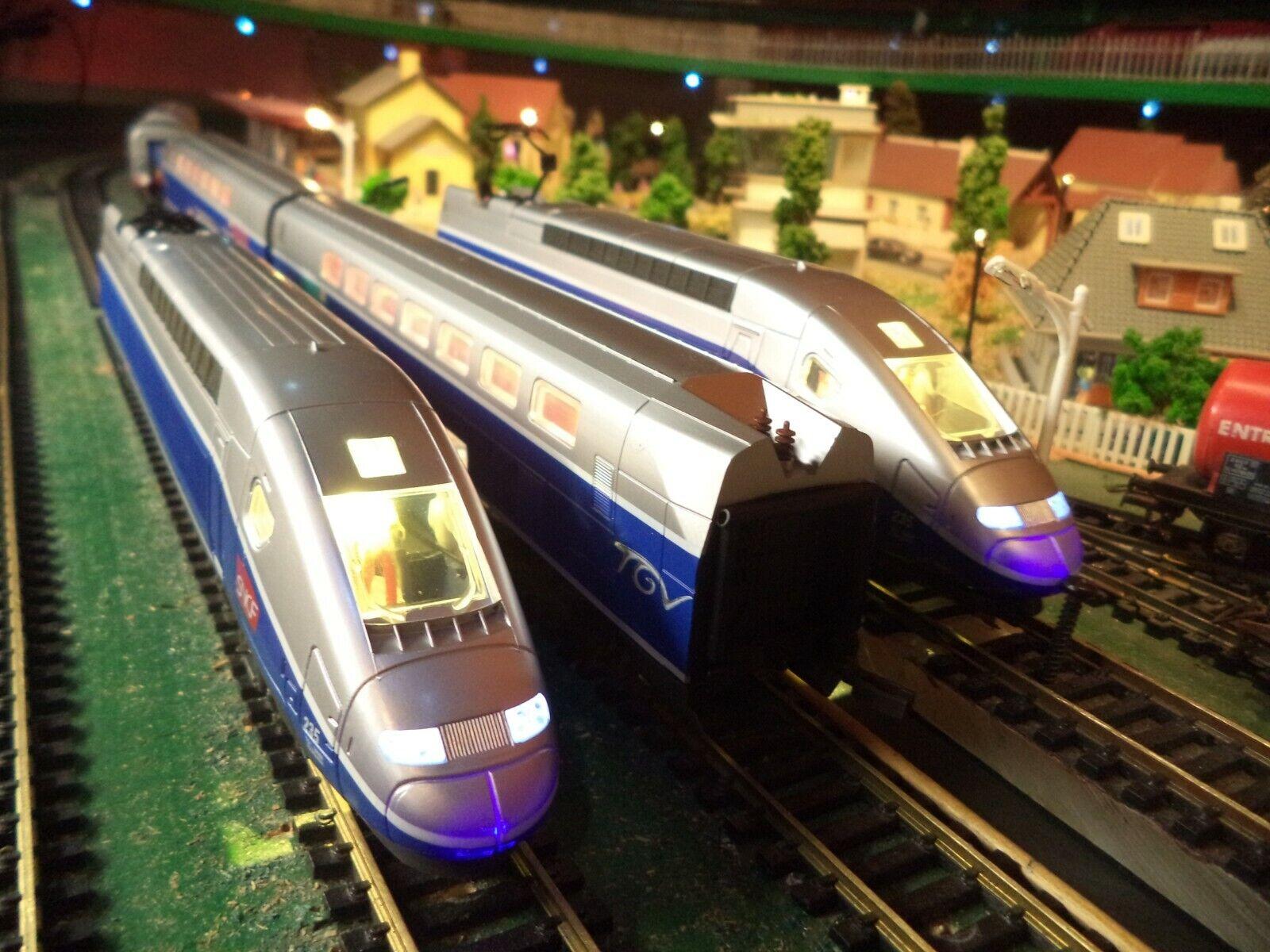Train electrique - tgv duplex mehano avec éclairage réversible  ho 1/87 n°22