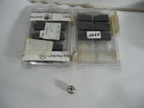 NEW 16 PCS SPRAYING SYSTEMS CO. CP56754-0625-SSENP ORIFICE INSERTS .0625 NOZZLES
