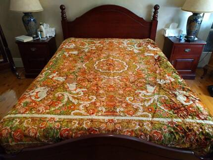 Bedspreads - 1950s vintage French Boudoir Art deco bedcover
