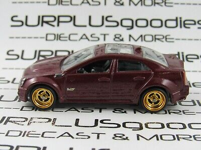 Hot Wheels 1:64 LOOSE Maroon 2009 CADILLAC CTS-V Custom SUPER w/Real Riders #2