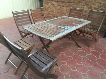 Outdoor dining set Green Valley Liverpool Area Preview