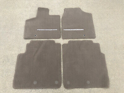 2013-2016 OEM Chrysler Town & Country Tan Floor Mats Front and Back StowNGo