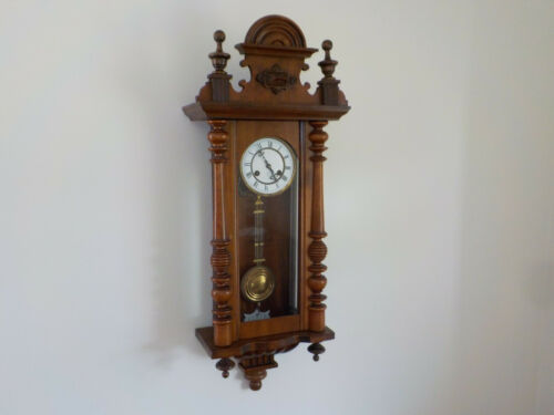 Antique JUNGHANS German Wall Clock Old Antique Regulator Vintage Working Nicely