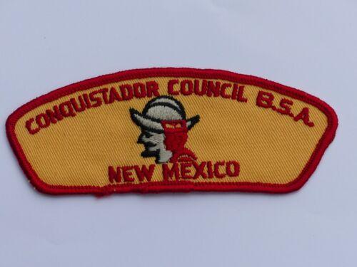 Old Conquistador Council New Mexico Boy Scout BSA CSP Council Shoulder Patch #T?