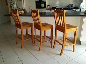 Solid heavy Tassy Oak stools Mount Annan Camden Area Preview