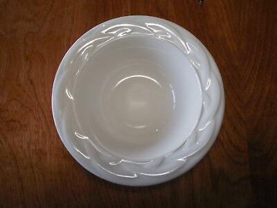 """Pfaltzgraff USA ACADIA WHITE Rim Cereal Bowl 6 1/2"""" arches     39 available"""