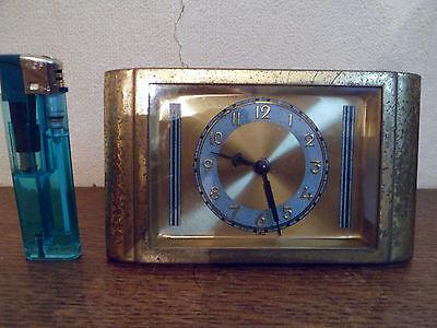 Ancienne mini horloge de table de nuit FOREIGN en laiton - GERMANY Sans sonnerie