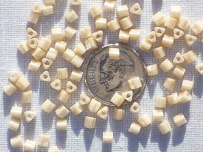 10 grams Toho Triangle Seed Beads - 8/0 - #123 - Cream Opaque Luster