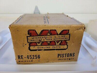 Nos Minneapolis Moline Pistons Re-45256 Vintage Original Set Of 4 Pistons.