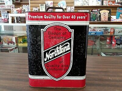 VINTAGE NORTHLAND 2 TWO GALLON OIL CAN WATERLOO IOWA