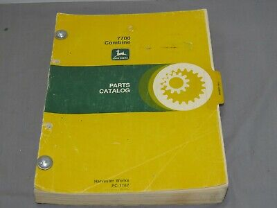 Vintage John Deere 7700 Combine Parts Catalog Original Oem Pc-1167 1978