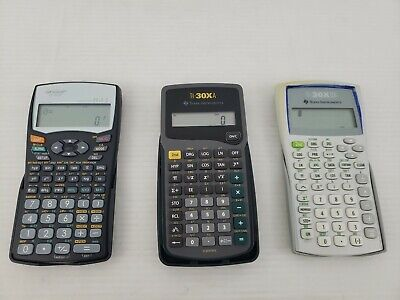 Lot of 3 Scientific Calculators TI-30XA TI-30XIIB & Sharp EL-531W Free Shipping