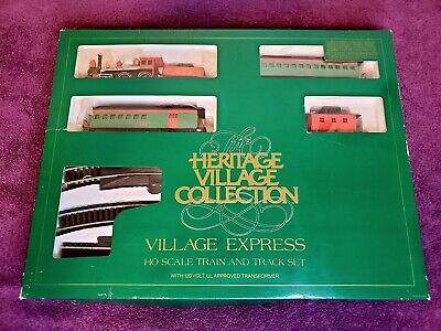 Dept 56 Heritage Village Express Bachmann Train Set #5980-3 (HO Scale) Complete