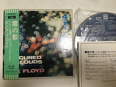 PINK FLOYD OBSCURED BY CLOUDS JAPAN REEL TO REEL TAPE EOXA-5093 7 2/1IPS OBI