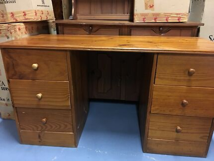 Solid Pine desk, with drawers