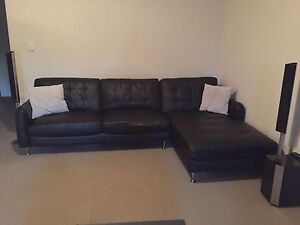 Black PU Leather Lounge for Sale Jamisontown Penrith Area Preview