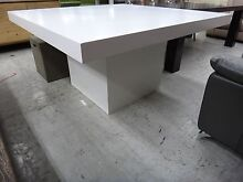 ZOLA WHITE SQUARE DINING TABLE from Nick Scali - CLEARANCE Richmond Yarra Area Preview