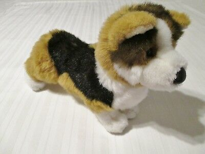 "14"" Douglas Tri Color Corgi Puppy Dog Plush Stuffed Animal Toy VGC 14' Colorful Plush Dog Toy"