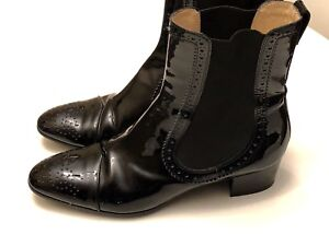 Tod's Black Patent Leather Boots - Made in Italy