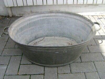 Vintage Galvanised Tin Bath/Tub, garden planter (london)