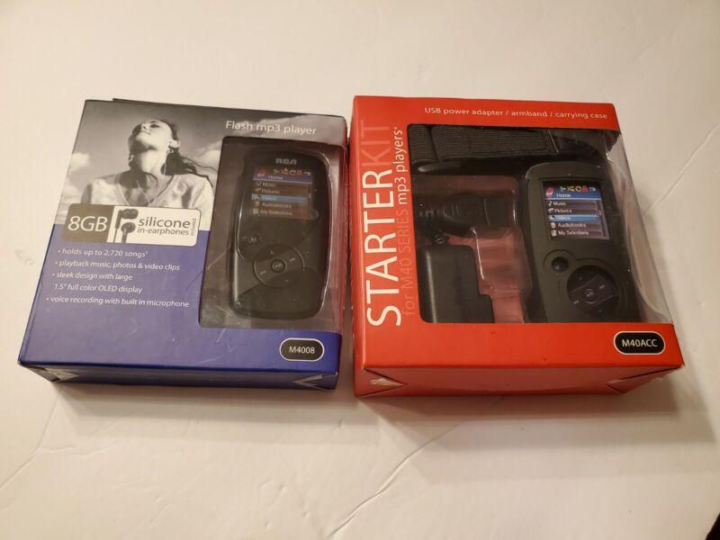 RCA 8GB OPAL MP3 PLAYER M4008 & M40ACC Starter Kit Accessory