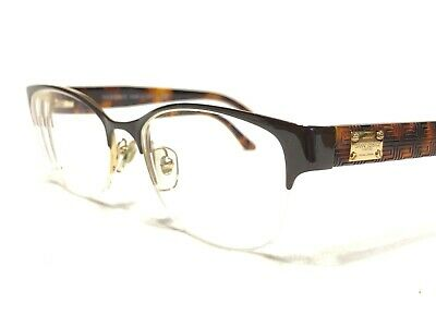 Versace MOD1222 1344 Womens Brown & Tortoise Half Rim Rx Eyeglasses Frames 53/17