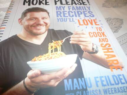 Cook books manu feildel other books gumtree australia manly manu feildel signed cook book more please my family recipes forumfinder Gallery